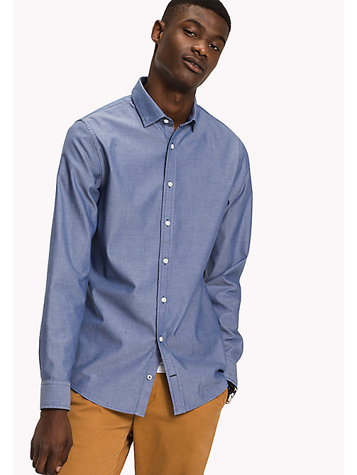 TOMMY HILFIGER Dobby Slim Fit Shirt - ESTATE BLUE - TOMMY HILFIGER Shirts - main image