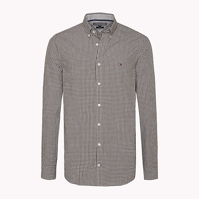 TOMMY HILFIGER Slim Fit Hemd mit Gingham-Karo - JUNE BUG / CLOUD HTR - TOMMY HILFIGER Kleidung - main image 1