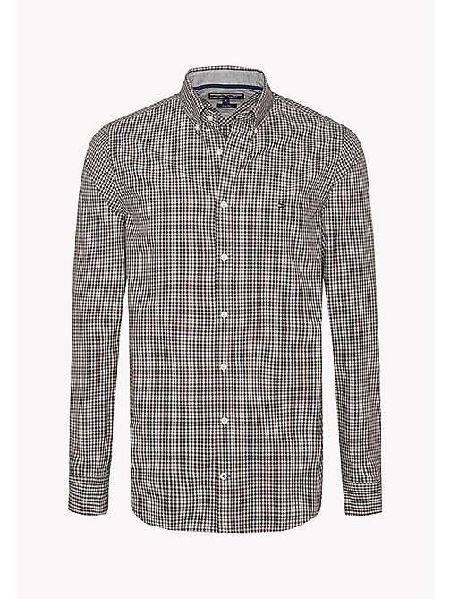 TOMMY HILFIGER Slim Fit Gingham Check Shirt - DELICIOSO / CLOUD HTR - TOMMY HILFIGER Shirts - detail image 1
