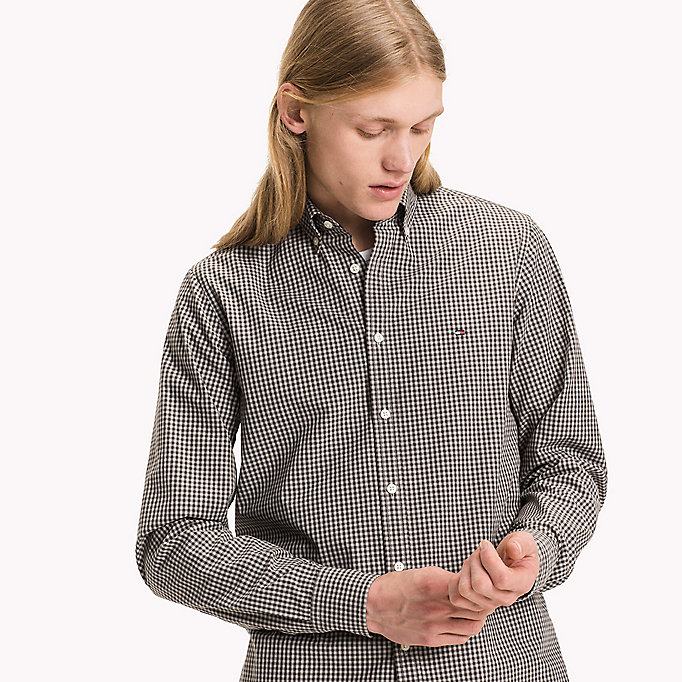 TOMMY HILFIGER Slim Fit Hemd mit Gingham-Karo - JUNE BUG / CLOUD HTR - TOMMY HILFIGER Kleidung - main image 4