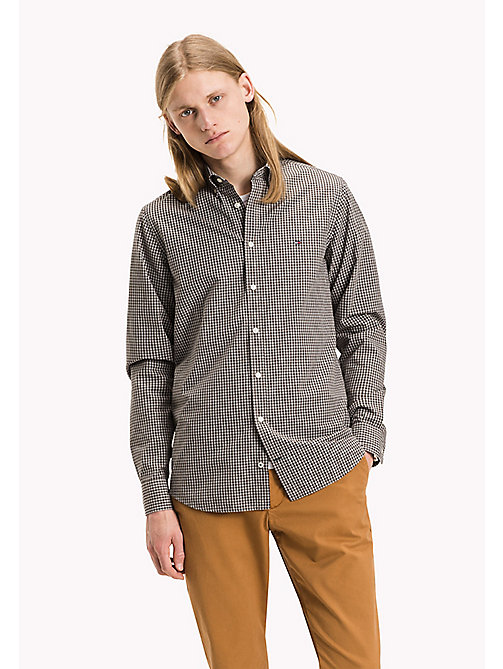 TOMMY HILFIGER Slim Fit Gingham Check Shirt - DELICIOSO / CLOUD HTR - TOMMY HILFIGER Shirts - main image