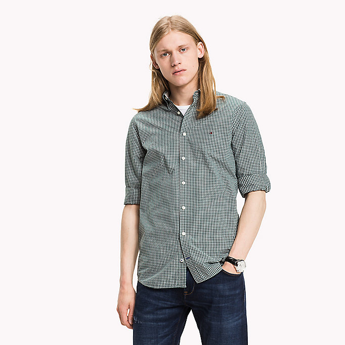 TOMMY HILFIGER Slim Fit Hemd mit Gingham-Karo - ESTATE BLUE / CLOUD HTR - TOMMY HILFIGER Kleidung - main image