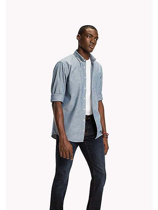 TOMMY HILFIGER WORKER SHIRT CHAMBRAY NF3 - INDIGO - TOMMY HILFIGER Shirts - main image