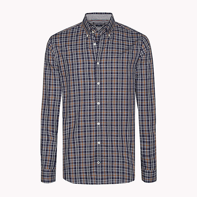 TOMMY HILFIGER Fitted Check Shirt - MAZARINE BLUE / MULTI - TOMMY HILFIGER Clothing - detail image 1