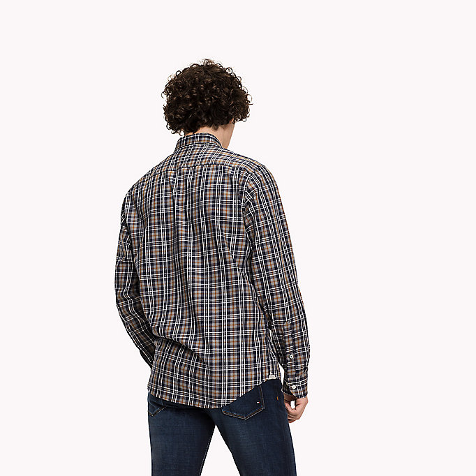 TOMMY HILFIGER Fitted Check Shirt - MAZARINE BLUE / MULTI - TOMMY HILFIGER Clothing - detail image 2