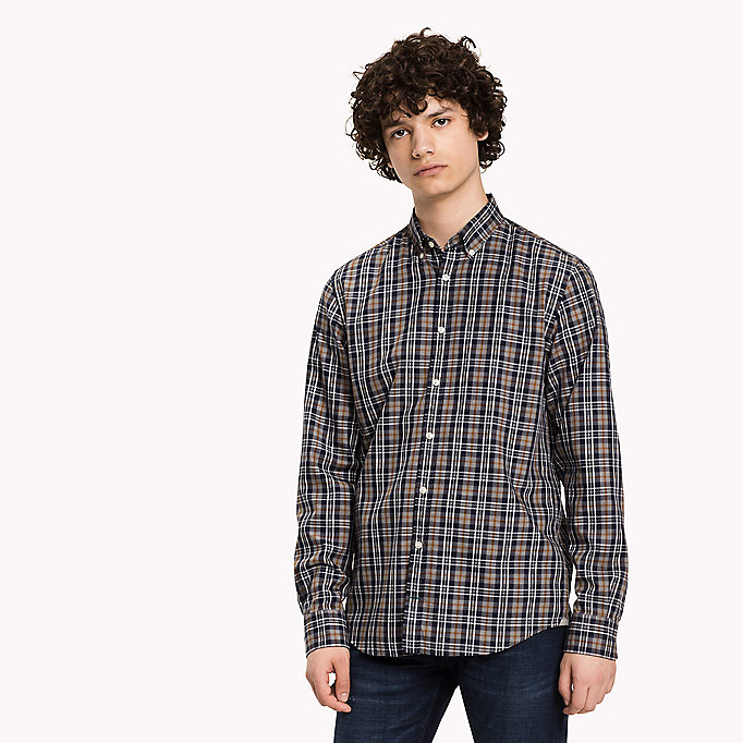 TOMMY HILFIGER Fitted Check Shirt - MAZARINE BLUE / MULTI - TOMMY HILFIGER Clothing - main image