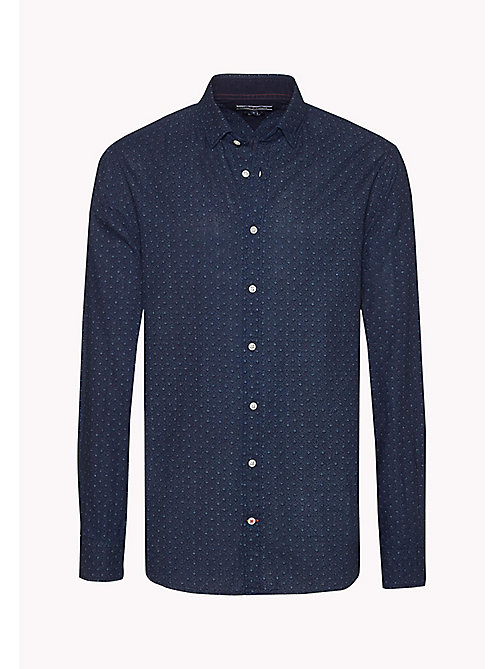 TOMMY HILFIGER Cotton Printed Shirt - INDIGO / SNOW WHITE - TOMMY HILFIGER Shirts - detail image 1