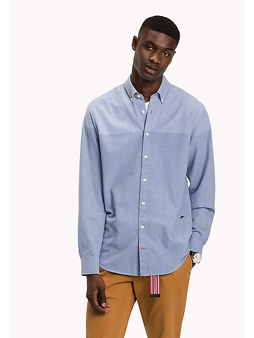 TOMMY HILFIGER Colour-Blocked Shirt - SHIRT BLUE - TOMMY HILFIGER Shirts - main image