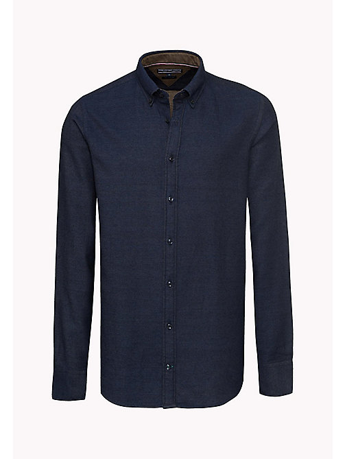 TOMMY HILFIGER Slim Fit Dobby Shirt - DARK INDIGO - TOMMY HILFIGER Shirts - detail image 1