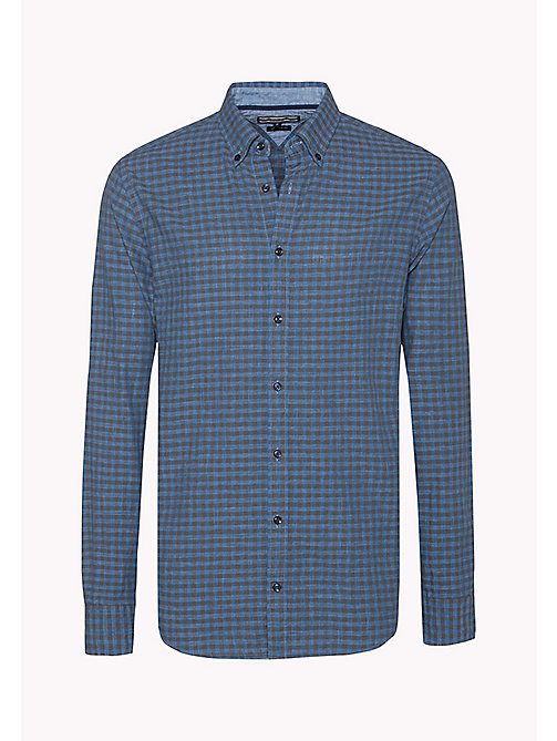 TOMMY HILFIGER Fitted Gingham Check Shirt - MAGNET / MULTI - TOMMY HILFIGER Shirts - detail image 1