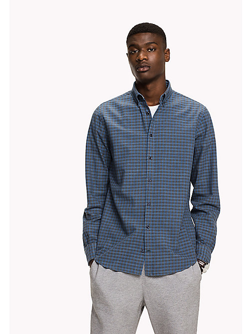 TOMMY HILFIGER Fitted Gingham Check Shirt - MAGNET / MULTI - TOMMY HILFIGER Shirts - main image