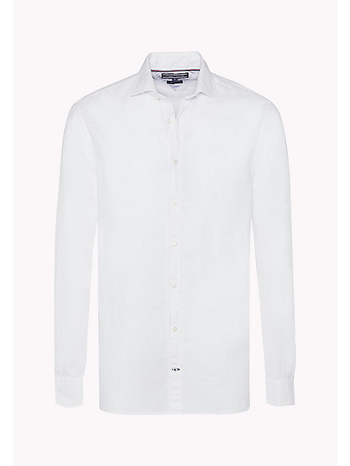 TOMMY HILFIGER Dobby Fitted Shirt - BRIGHT WHITE - TOMMY HILFIGER Shirts - detail image 1
