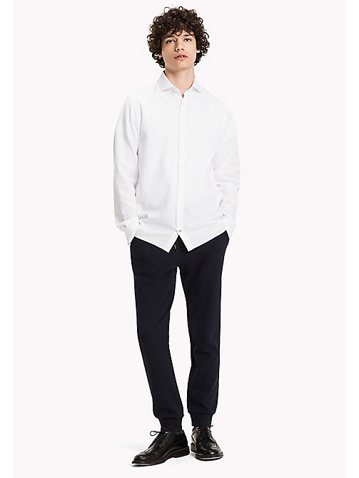 TOMMY HILFIGER Dobby Fitted Shirt - BRIGHT WHITE - TOMMY HILFIGER Shirts - main image