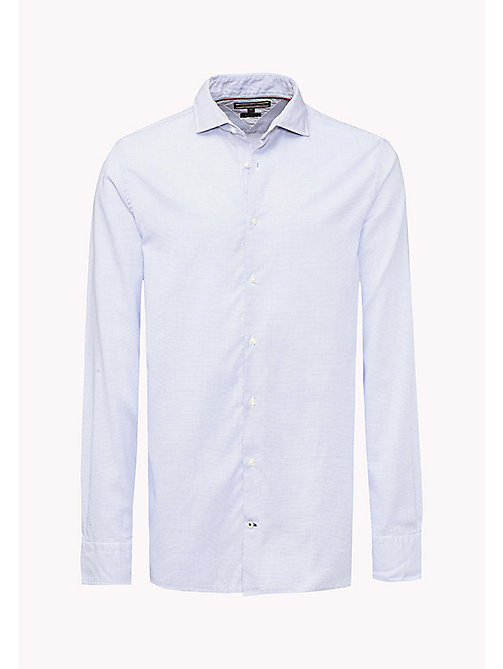 TOMMY HILFIGER Fitted Dobby Shirt - SHIRT BLUE - TOMMY HILFIGER Shirts - detail image 1