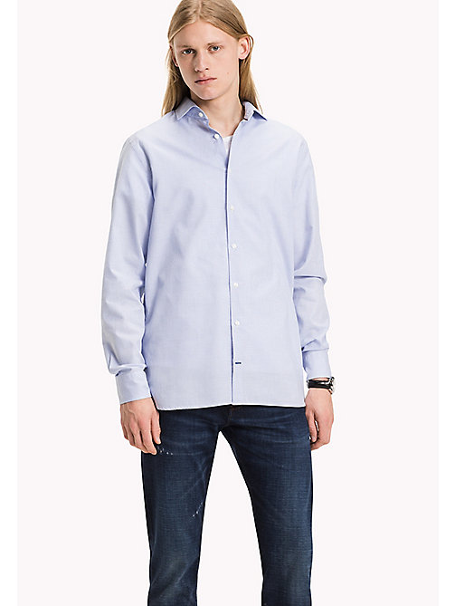 TOMMY HILFIGER Fitted Dobby Shirt - SHIRT BLUE - TOMMY HILFIGER Shirts - main image