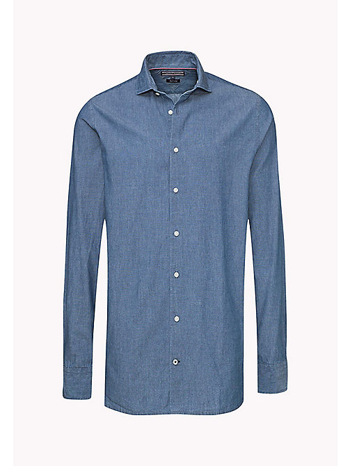 TOMMY HILFIGER Chambray Fitted Shirt - LIGHT INDIGO - TOMMY HILFIGER Shirts - detail image 1