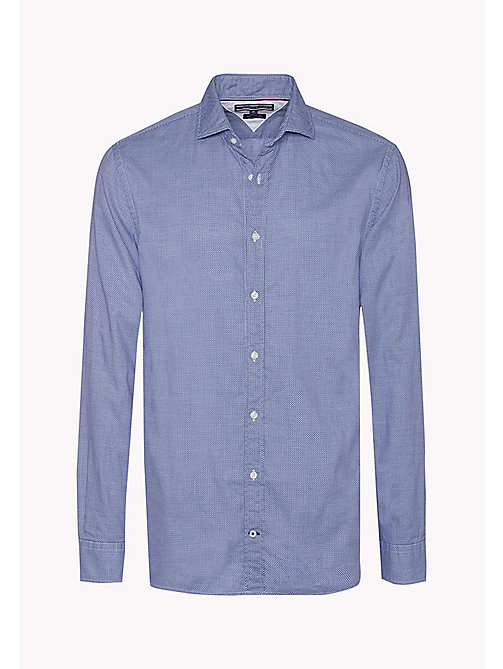 TOMMY HILFIGER Fitted Dobby Shirt - ROYAL BLUE - TOMMY HILFIGER Shirts - detail image 1
