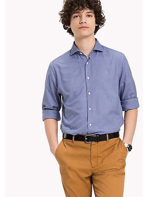 TOMMY HILFIGER Fitted Dobby Shirt - ROYAL BLUE - TOMMY HILFIGER Shirts - main image