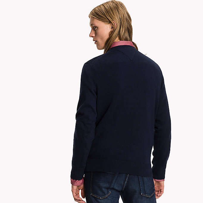 TOMMY HILFIGER Pima Cotton Cashmere Jumper - MONUMENT HEATHER - TOMMY HILFIGER Clothing - detail image 1