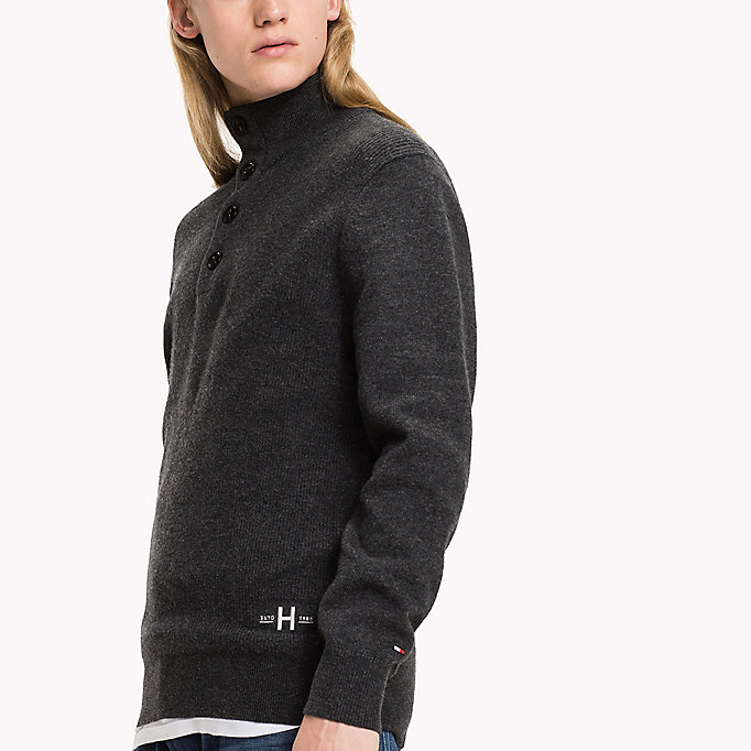 TOMMY HILFIGER Mock Neck Jumper - SNOW WHITE - TOMMY HILFIGER Clothing - detail image 2