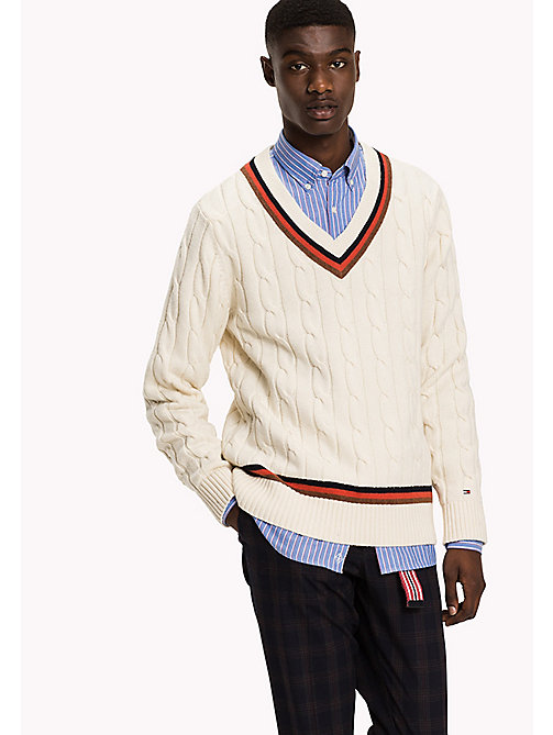 TOMMY HILFIGER Cricket-Pullover - SNOW WHITE - TOMMY HILFIGER Pullover & Strickjacken - main image