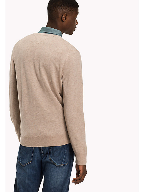 TOMMY HILFIGER Pullover aus Lammwolle - BATIQUE KHAKI HEATHER - TOMMY HILFIGER Pullover & Strickjacken - main image 1