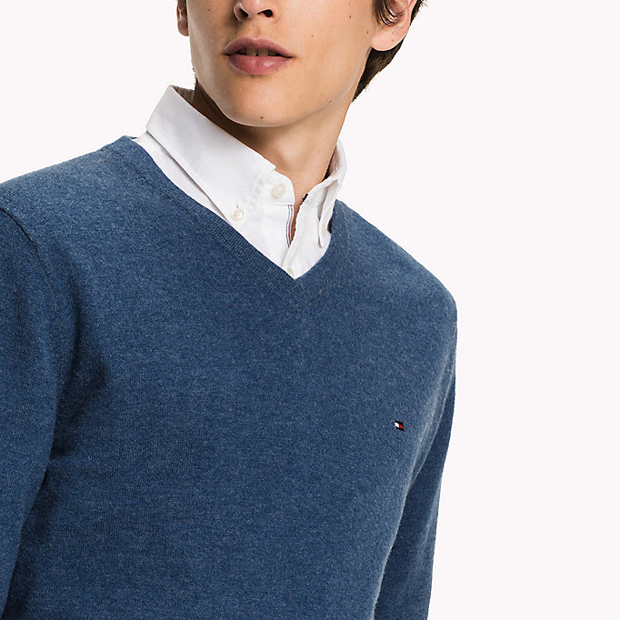 TOMMY HILFIGER Lambswool Jumper - ROOIBOS TEA HEATHER - TOMMY HILFIGER Clothing - detail image 2