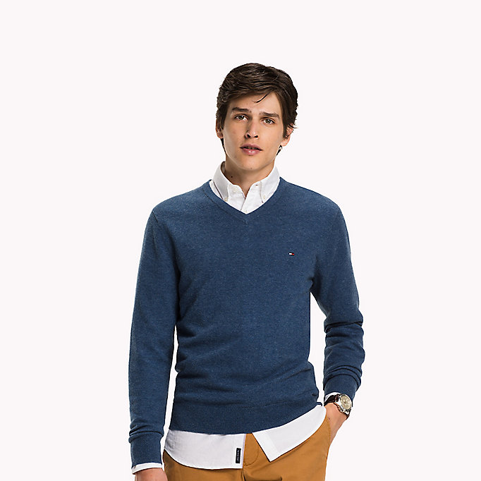 TOMMY HILFIGER Lambswool Jumper - ROOIBOS TEA HEATHER - TOMMY HILFIGER Clothing - main image