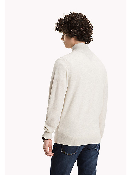 TOMMY HILFIGER Pullover mit Stehkragen - BONE WHITE HEATHER - TOMMY HILFIGER Pullover & Strickjacken - main image 1