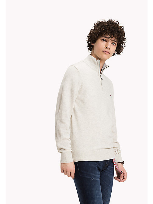 TOMMY HILFIGER Pullover mit Stehkragen - BONE WHITE HEATHER - TOMMY HILFIGER Pullover & Strickjacken - main image
