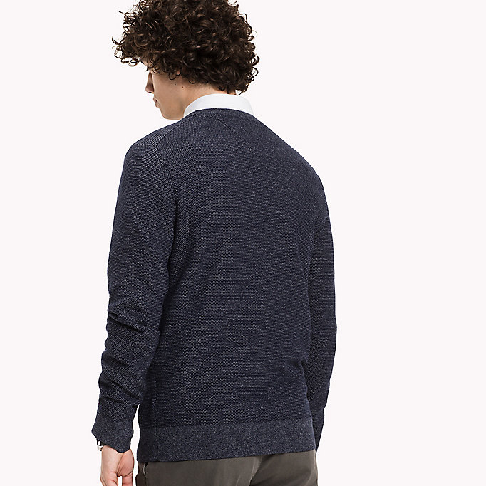 TOMMY HILFIGER Wolmix jumper - ROOIBOS TEA HEATHER - TOMMY HILFIGER Kleding - detail image 1