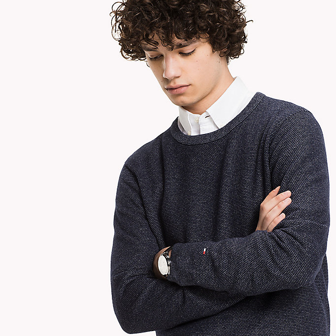 TOMMY HILFIGER Wolmix jumper - ROOIBOS TEA HEATHER - TOMMY HILFIGER Kleding - detail image 2