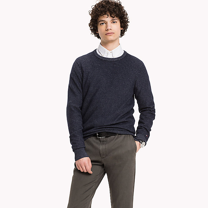 TOMMY HILFIGER Wolmix jumper - ROOIBOS TEA HEATHER - TOMMY HILFIGER Kleding - main image