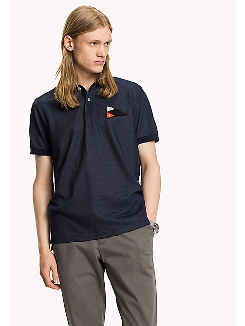 TOMMY HILFIGER Regular Fit Textured Polo - SKY CAPTAIN - TOMMY HILFIGER Polos - main image