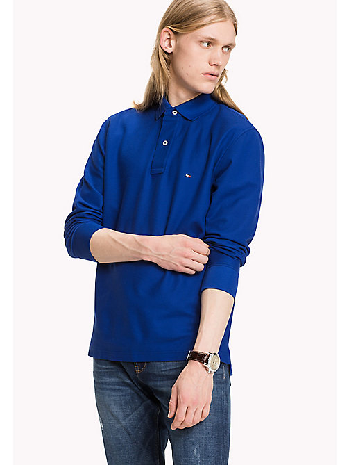 TOMMY HILFIGER Long Sleeve Hilfiger Regular Fit Polo - MAZARINE BLUE - TOMMY HILFIGER Polos - main image