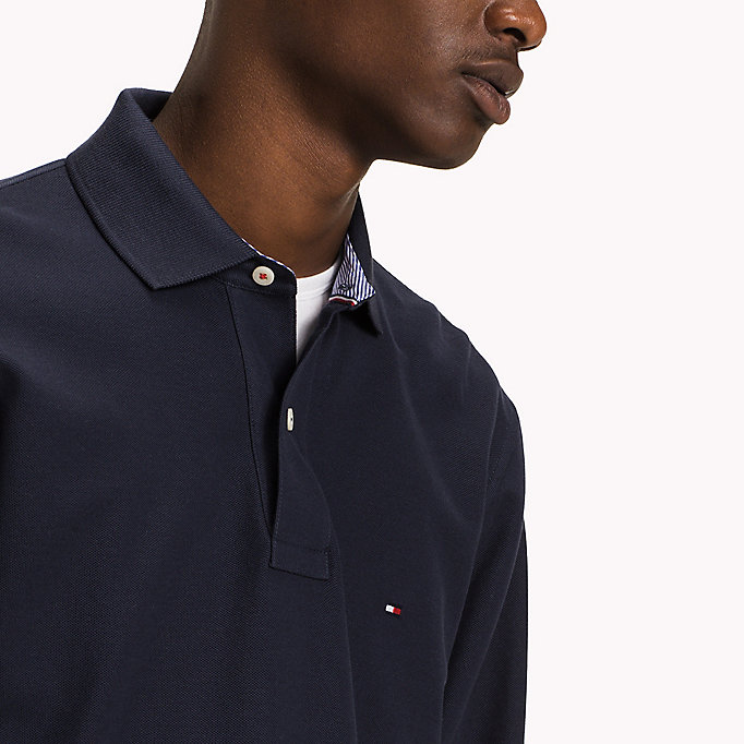 TOMMY HILFIGER Long Sleeve Hilfiger Regular Fit Polo - FLAG BLACK - TOMMY HILFIGER Clothing - detail image 2