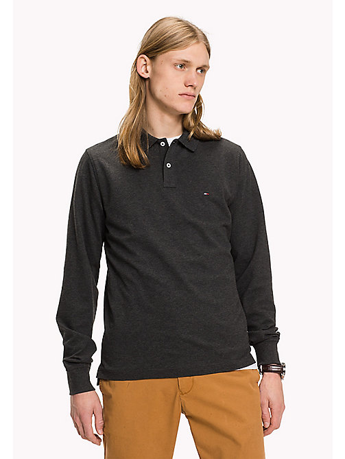 TOMMY HILFIGER Tommy slim fit polo - CHARCOAL HTR - TOMMY HILFIGER Polo's - main image