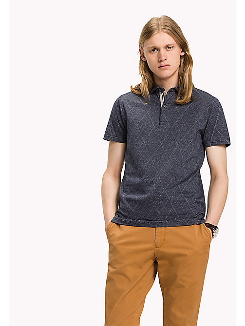 TOMMY HILFIGER Jacquard Slim Fit Polo - SKY CAPTAIN - TOMMY HILFIGER Polos - main image