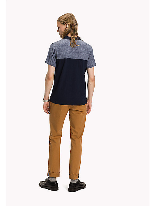 TOMMY HILFIGER Slim Fit Poloshirt in Blockfarben - SKY CAPTAIN - TOMMY HILFIGER Poloshirts - main image 1