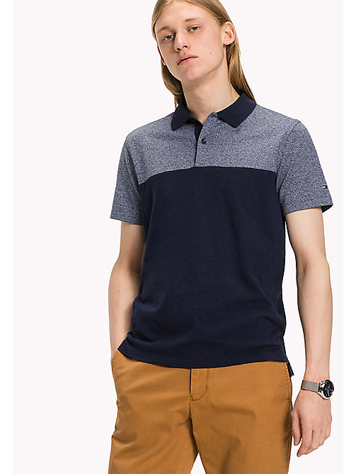 TOMMY HILFIGER Slim Fit Poloshirt in Blockfarben - SKY CAPTAIN - TOMMY HILFIGER Poloshirts - main image