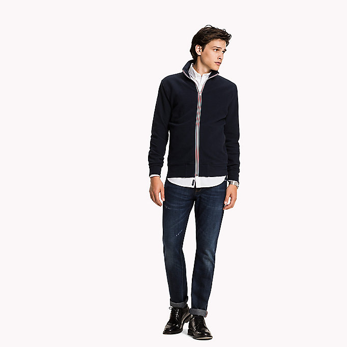 TOMMY HILFIGER Zip-Thru Sweat Jacket - CLOUD HTR - TOMMY HILFIGER Clothing - main image