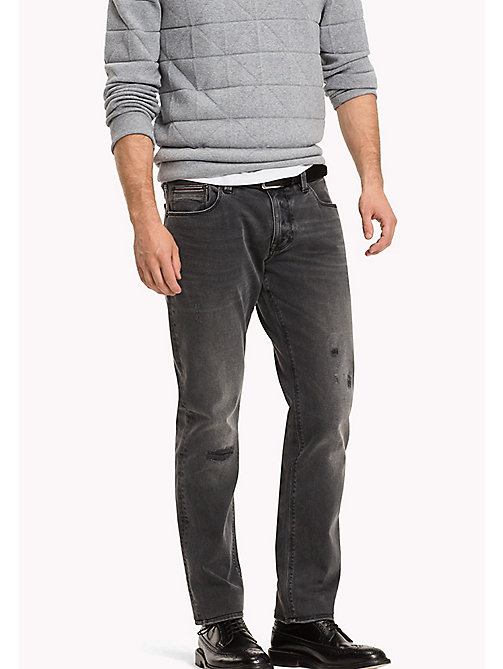 TOMMY HILFIGER Straight Fit Jeans - HOMESTEAD BLACK - TOMMY HILFIGER Jeans - main image
