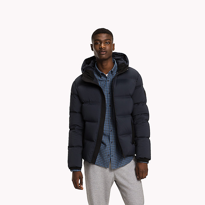 TOMMY HILFIGER Hooded Down Bomber - ROSIN - TOMMY HILFIGER Clothing - main image
