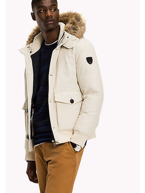 TOMMY HILFIGER Down Bomber - BONE WHITE - TOMMY HILFIGER Coats & Jackets - main image