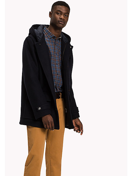 TOMMY HILFIGER Wool Blend Duffle Coat - SKY CAPTAIN - TOMMY HILFIGER Coats & Jackets - main image