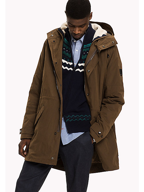 TOMMY HILFIGER Hooded Parka - SLATE BLACK - TOMMY HILFIGER Coats & Jackets - main image