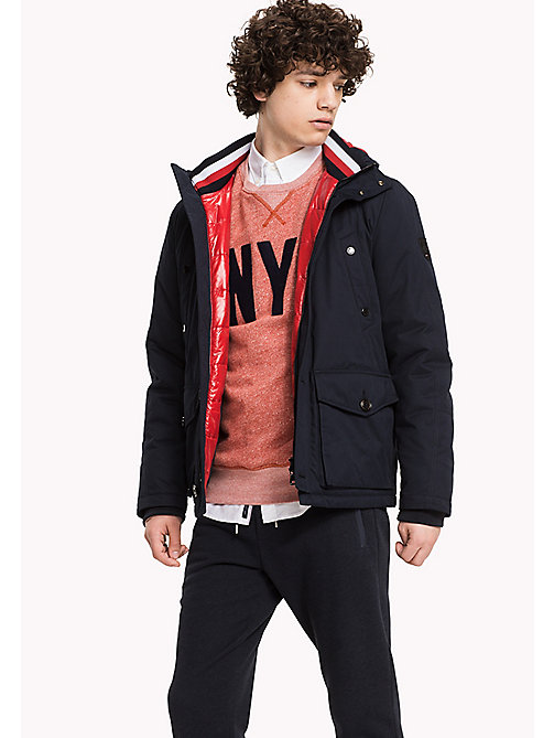 TOMMY HILFIGER Hooded Jacket - SKY CAPTAIN - TOMMY HILFIGER Coats & Jackets - main image