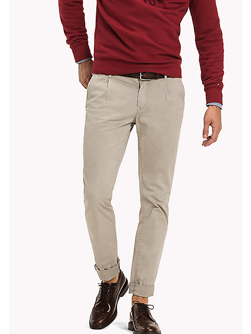 TOMMY HILFIGER Straight Fit Chino - BONE WHITE - TOMMY HILFIGER Hosen - main image