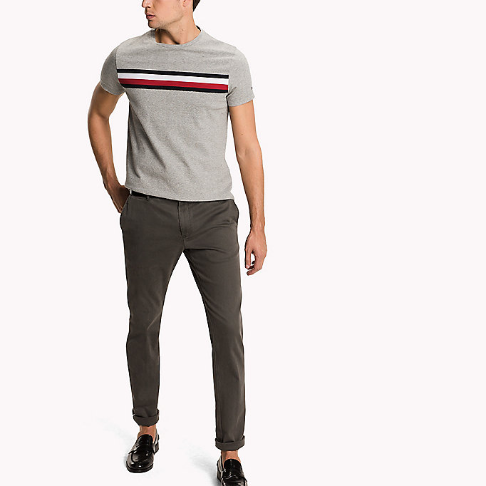 TOMMY HILFIGER Slim Fit Chinos - BATIQUE KHAKI - TOMMY HILFIGER Clothing - detail image 3