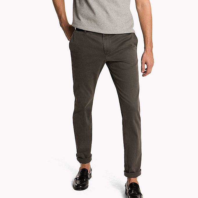 TOMMY HILFIGER Slim Fit Chinos - BATIQUE KHAKI - TOMMY HILFIGER Clothing - main image